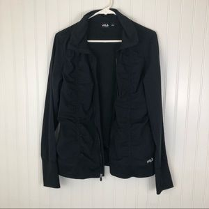Fila Sport Large Black zip up athletic jacket